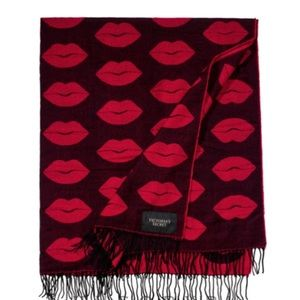 Victoria's Secret Accessories - 🆕Victoria's Secret Black/Red Lips Throw